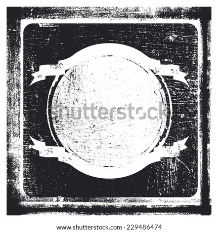 vintage grunge background with shield - stock vector
