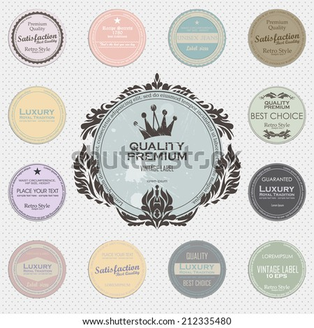 vintage grunge labels. vector image - stock vector