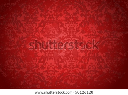 Vintage Grunge red pattern, vector - stock vector