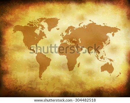 Vintage Grunge World Map (EPS10 Vector) - stock vector