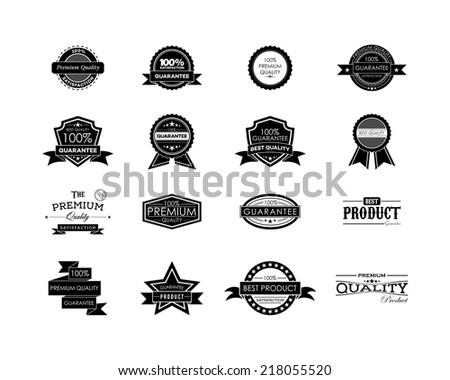 Vintage Guarantee Label - stock vector