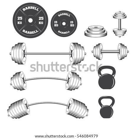Vintage Gym Crossfit Fitness Club Emblems Stock Vector 2018