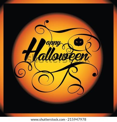 Vintage Halloween - stock vector