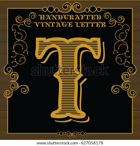 Decorative letter t stock images royalty free images for Letter t decoration