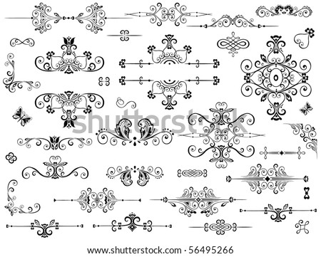 Vintage heading - stock vector