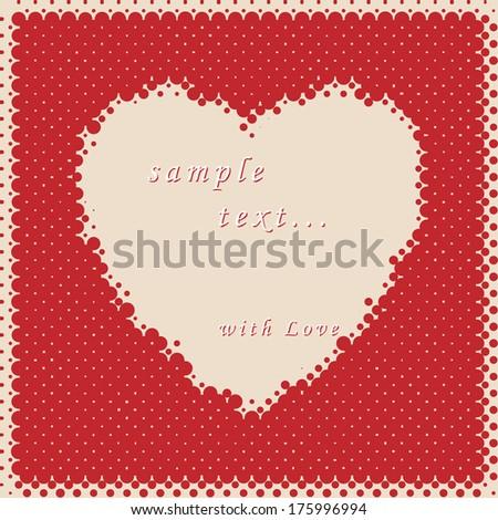 Vintage heart background.  - stock vector