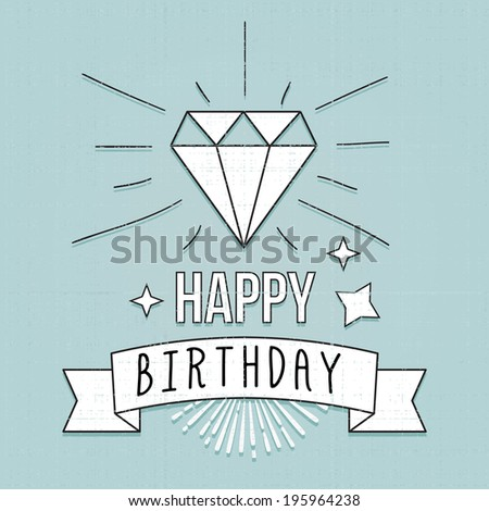 Chalk Vintage Hipster Birthday Card Typography Vector – Hipster Birthday Cards