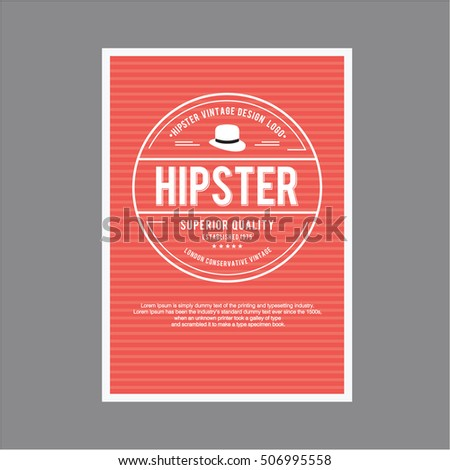 Vintage hipster layout tamplate for greetings