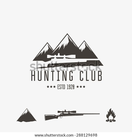 Vintage hunting club emblem or logo and design element.  - stock vector