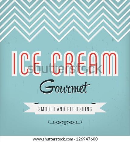 Vintage Ice Cream Label Design - stock vector
