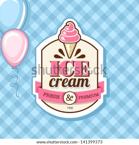 Vintage ICE CREAM poster design