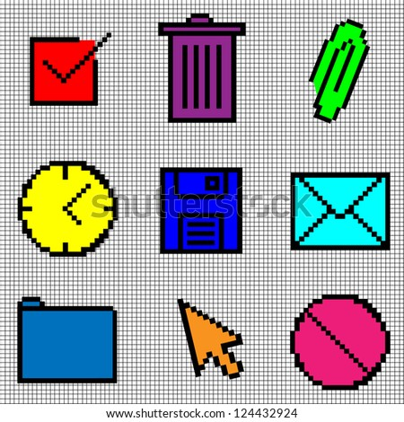 Vintage Icons, Vector Illustration - stock vector