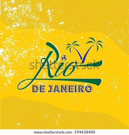 vintage illustration of Rio de Janeiro - stock vector