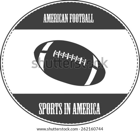 vintage illustration with american football
