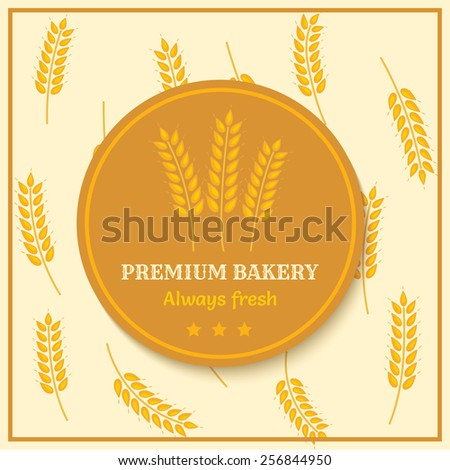 vintage image of bread label with wheat ears  - stock vector