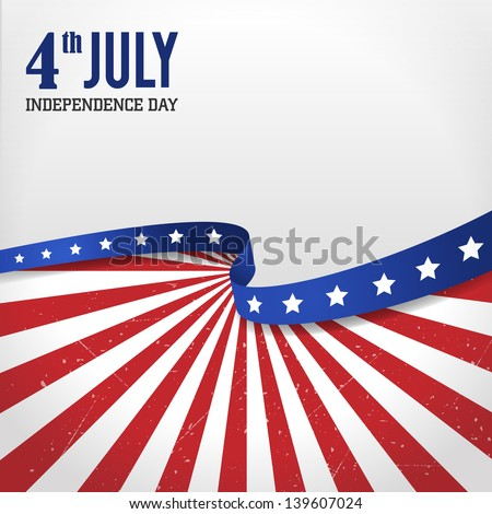 Vintage independence day poster. Vector illustration. Layered. - stock vector