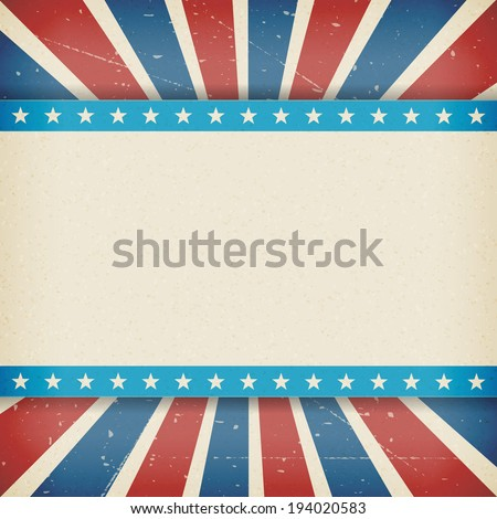 Vintage independence 4 July american day poster. Vector illustration. Layered.