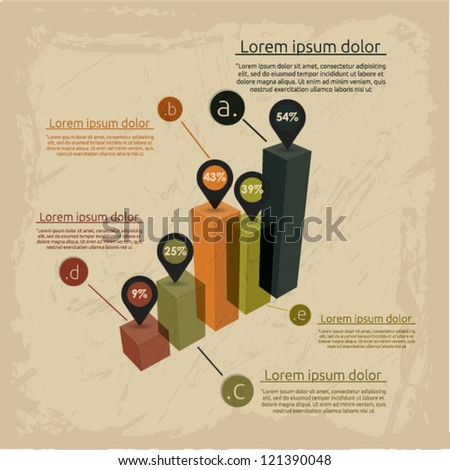 Vintage infographic template. Vector illustration. - stock vector
