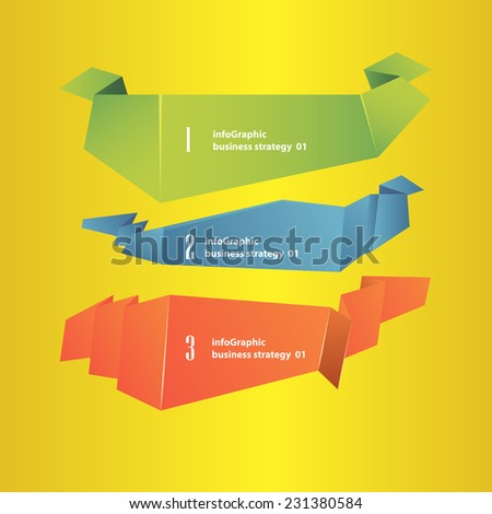 vintage infographics set on a yellow background - stock vector