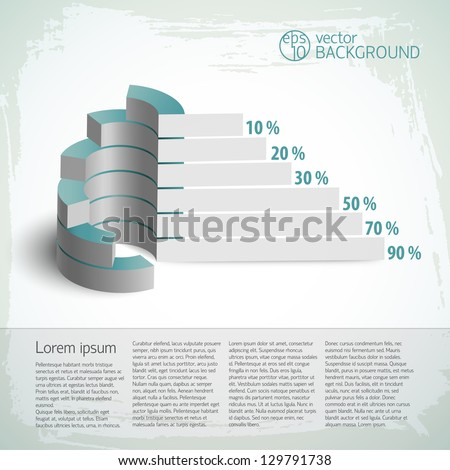 Vintage infographics set. Vector Illustration, eps10, contains transparencies. - stock vector