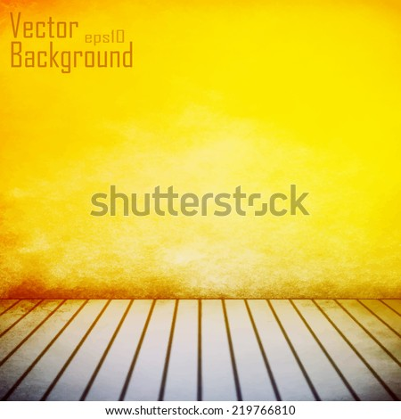 vintage interior, vector background - stock vector