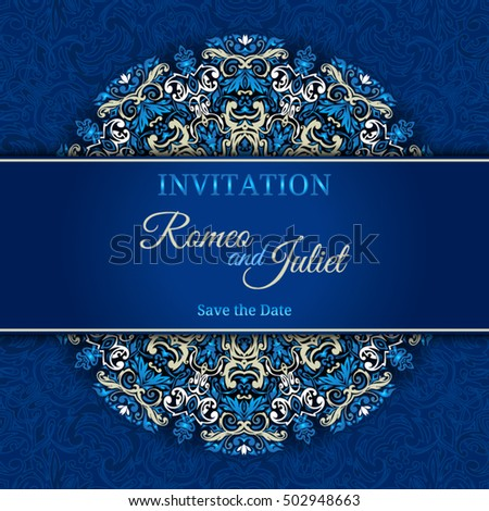 Vintage invitation card stock vector 502948663 shutterstock vintage invitation card stopboris Images