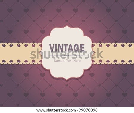 Vintage Invitation Card Vector Design
