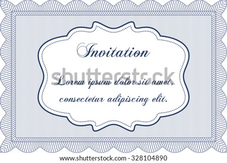 Vintage invitation. Complex background. Customizable, Easy to edit and change colors.Artistry design.  - stock vector