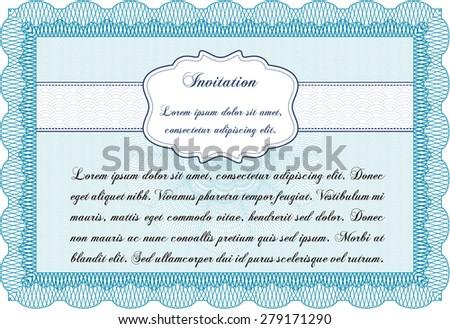 Vintage invitation. Printer friendly. Border, frame.Cordial design.  - stock vector