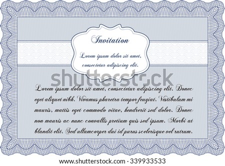 Vintage invitation template. With quality background. Detailed.Elegant design.