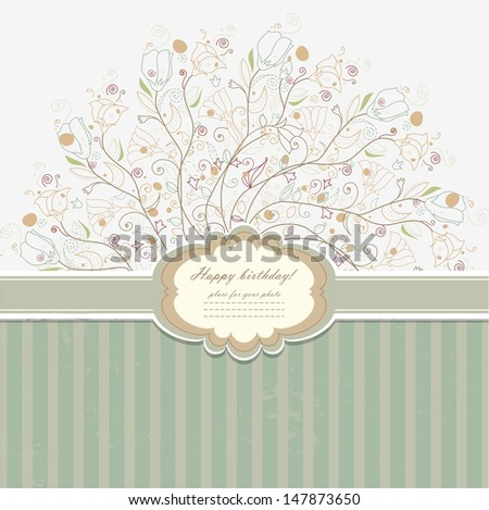 Vintage invitation with lace vector eps 10 - stock vector