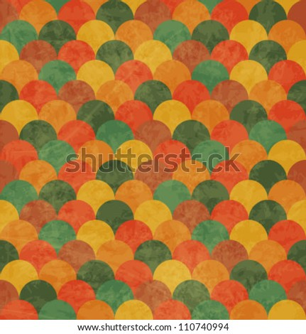 Vintage Japan-style Wave Seamless Pattern