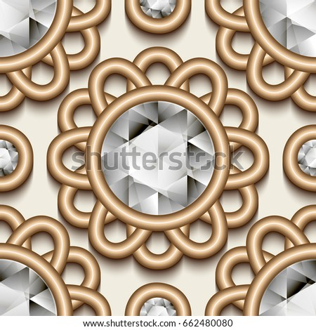 Vector Set Colored Gem Stones Round Stock Vector 260958773 ...