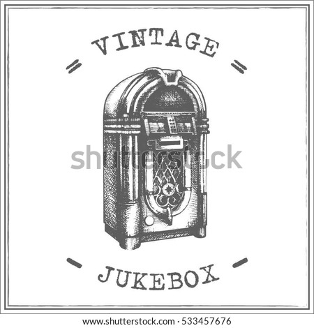 jukebox labels template - vintage jukebox vector stock vector 533457676 shutterstock