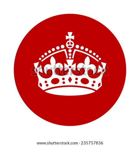 Vintage Keep Calm Crown Icon White Stock Vector Hd Royalty Free