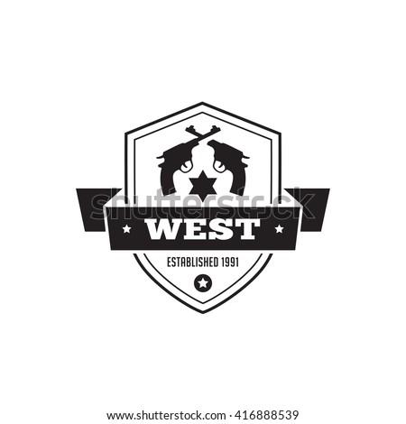 vintage label badge logo design vector stock vector