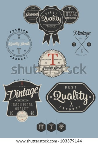 Vintage Label Collection - stock vector