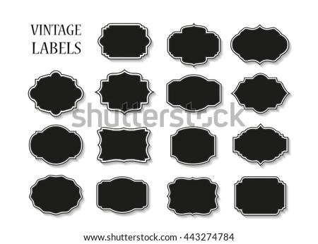 Vintage label.Decorative frame.Vector. - stock vector