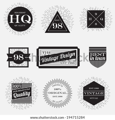 vintage label,design element,packaging label - stock vector