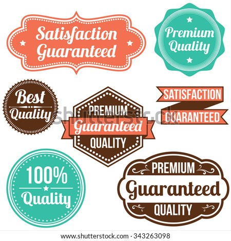 Vintage Label Designs - Collection of retro frame and banner designs.  Each frame is grouped individually and colors are global for easy editing. - stock vector