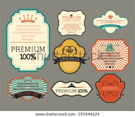 Vintage label for retro banners. EPS 10 - stock vector