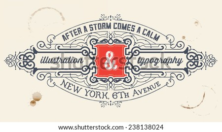 Vintage label. organized by layers - stock vector