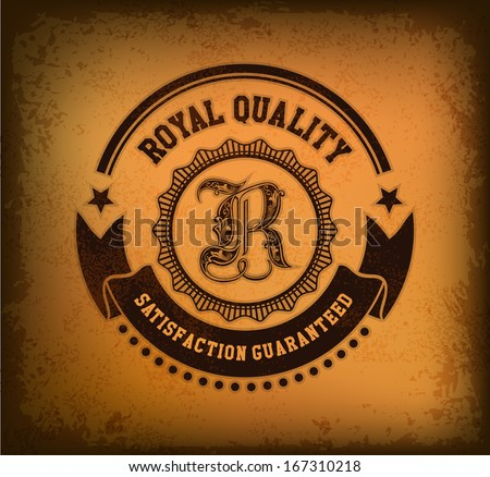 Vintage label vector - stock vector