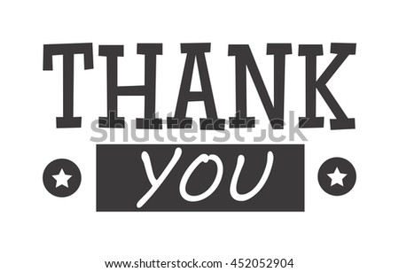 Vintage label with thank you text vector badge. Thank you text design label card lettering type banner symbol. Letter typography thank you handwritten decorative calligraphic message text. - stock vector
