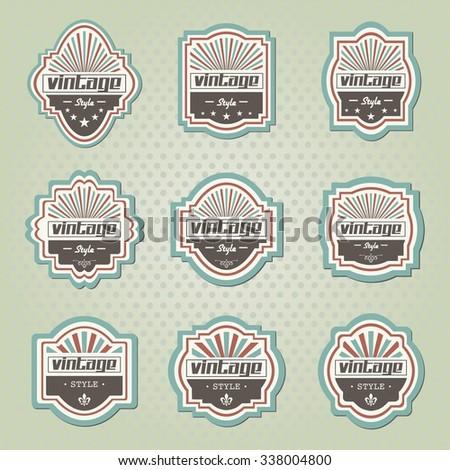 Vintage labels - stock vector