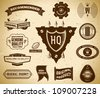 Vintage labels. Collection 14 - stock vector