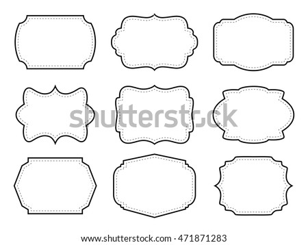 Vintage Labels Decorative Frames Vector Illustration Stock Vector HD ...