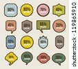 vintage labels over beige background. vector illustration - stock vector