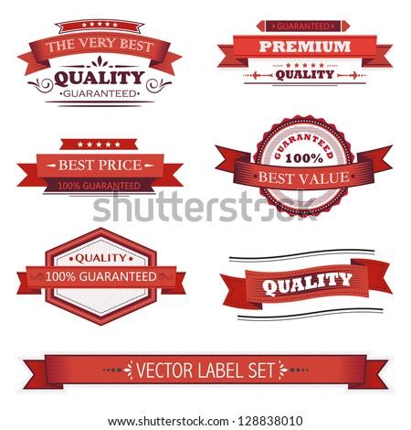 Vintage labels set - stock vector