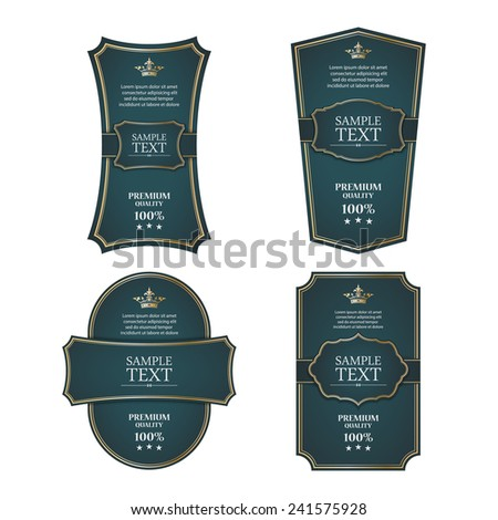Vintage labels set. vector - stock vector
